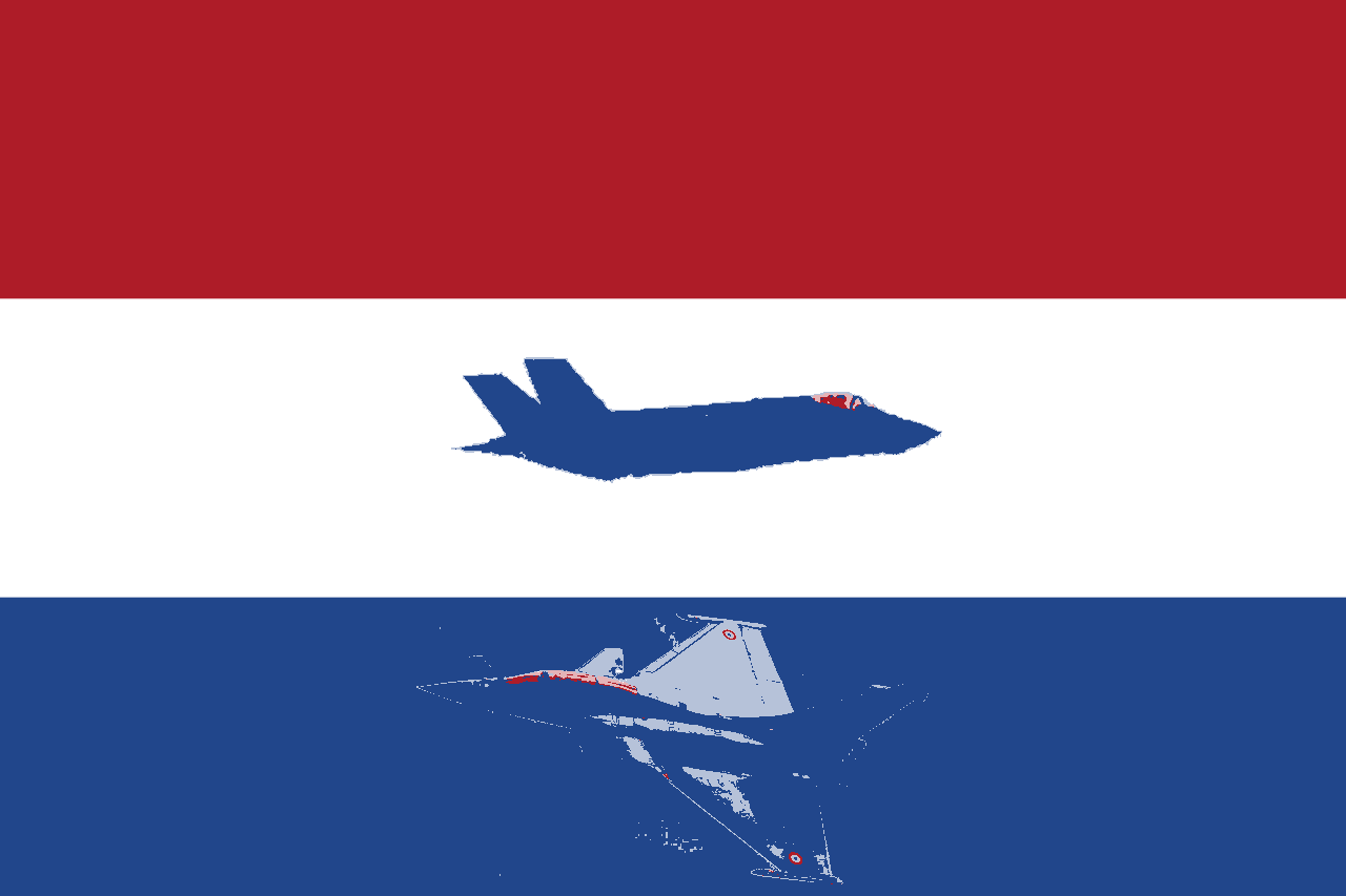 F35lag of the Netherlands