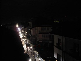 280px Calle Larga at night during power cut